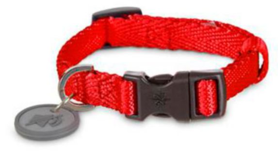 Petco Adjustable Nylon Dog Collar, Red, Medium Product image