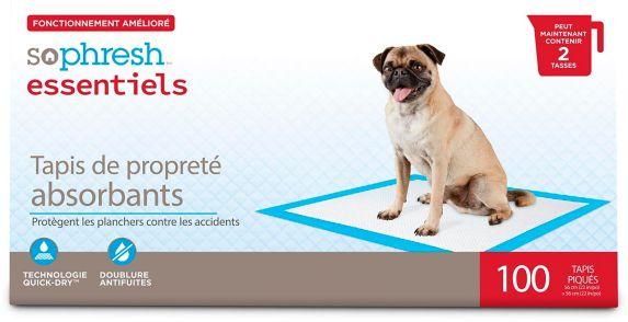 Tapis de propreté absorbants pour chiens So Phresh, paq. 100