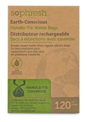 So Phresh Earth-Conscious Handle-Tie Dog Waste Bags, 120-ct