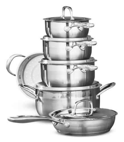 PADERNO Classic Stainless Steel Cookware Set, 11-pc