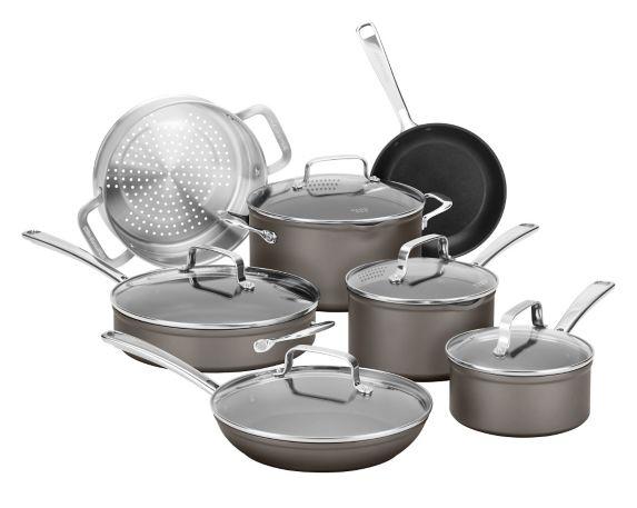 KitchenAid Anodized Cookware Set, Black, 12-pc Product image