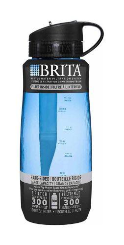 Brita Hard-Sided Water Bottle, Blue, 1000-mL Product image