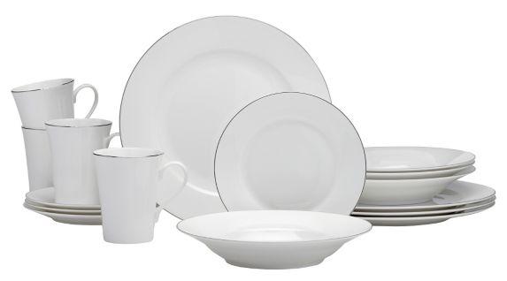 Service à vaisselle CANVAS Kate en porcelaine, 16 pièces