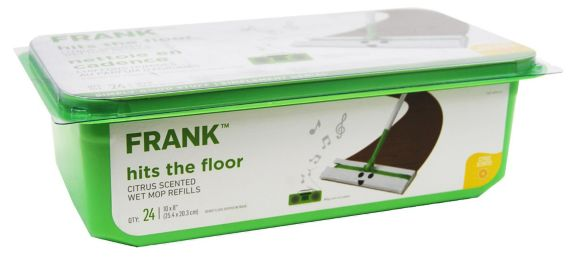 FRANKWet Sweeping Cloth Refills, Citrus Scent, 24-ct