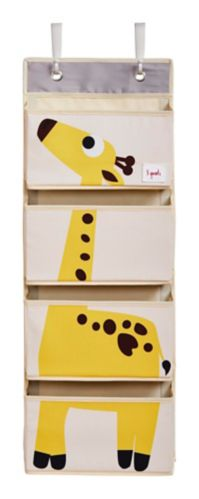 3 Sprouts Kids' Hanging Wall Organizer, Giraffe Product image