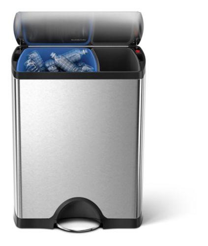 Poubelle de recyclage à double compartiment simplehuman, 46 L Image de l'article