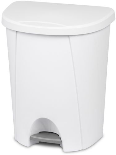 Sterilite Step-On Wastebasket, White, 25-L Product image