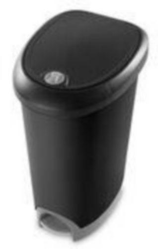 Corbeille à pédale Sterilite à loquet, noir, 48 L Image de l'article