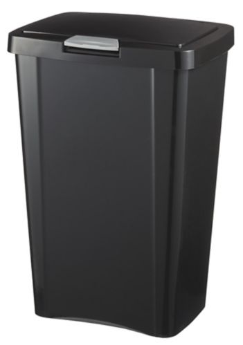 Corbeille Sterilite TouchTop, noir, 49 L