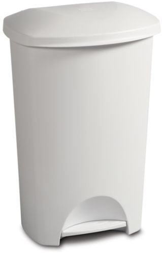 Sterilite Step-On Wastebasket, White, 42-L Product image