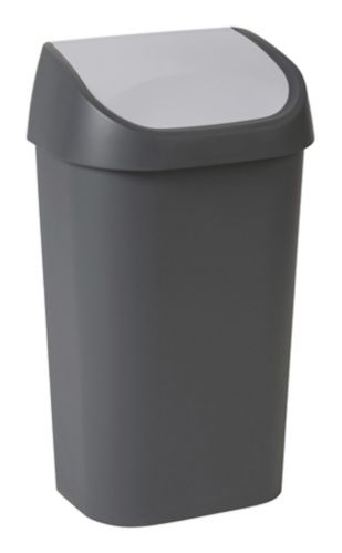 type A Swing Top Two-Tone Waste Bin, 50-L Product image