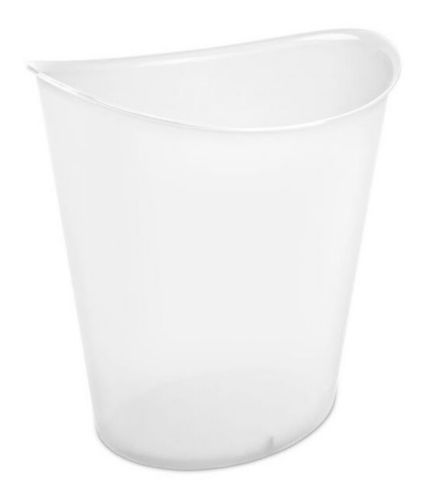 Sterilite Oval Wastebasket, Clear, 11.4-L Product image