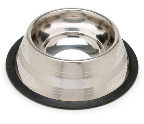Petco Two-Toned No-Tip Stainless Steel Dog Bowl, 2-Cup