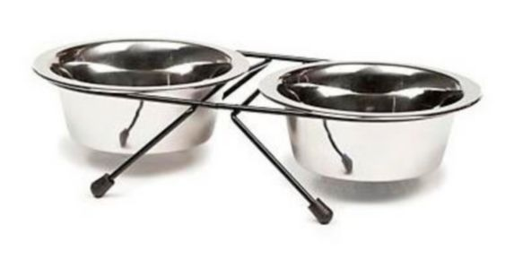 Petco Stainless Steel Double Diner Dog Bowls, 1.5-Cup