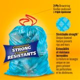 Glad Blue Recycling Bags - Tall 45 Litres - ForceFlex, Drawstring, 50 Trash Bags | GLADnull