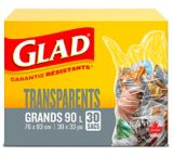 Glad Clear Garbage Trash Bags - Large,  90-L, 30-pk | GLADnull
