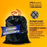 Glad Black Garbage Bags - Large 90 Litres - ForceFlex, Drawstring,  24 Trash Bags | GLADnull