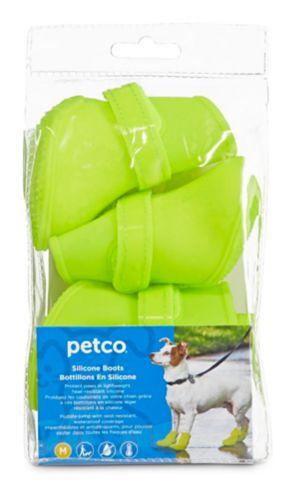 Bottes en silicone pour chien Petco, jaune, moyen