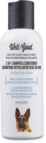 Shampooing et revitalisant 2-en-1 pour chiens Well & Good, 4 oz