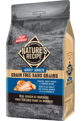 Nature's Recipe Grain-Free Adult Chicken, Sweet Potato & Pumpkin Recipe Dry Dog Food, 1.8-kg Product image