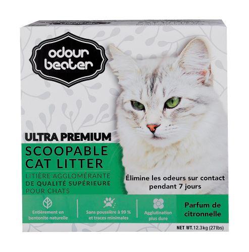 Odour BeaterUltraPremiumScoopableCat Litter, Unscented, Lemongrass Scent Product image