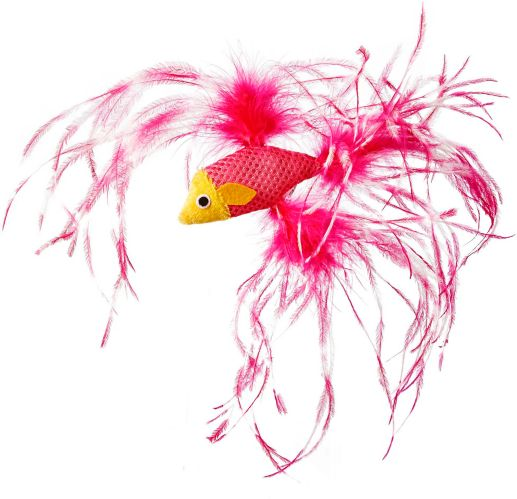 Petco Feathered Fish Cat Toy with Catnip Product image