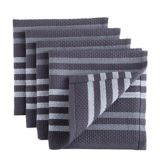 PADERNO Basket Weave Dishcloth, Charcoal, 4-pk | Padernonull