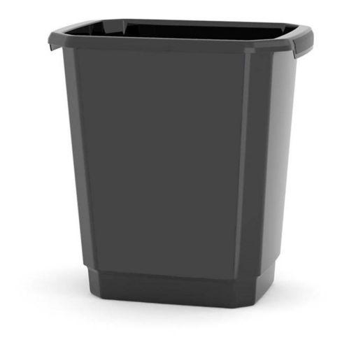 type A Open Trash Bin, Black, 14-L