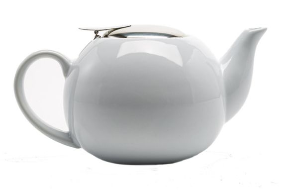 Primula Ceramic Tea Pot with Stainless Steel Infuser, 24-oz
