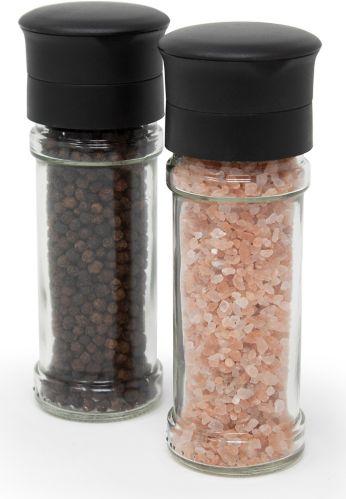 Kamestien Small Glass Salt & Pepper Grinder Set, 5.2-in