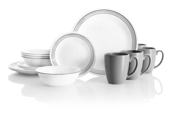Corelle Mystic Grey Dinnerware Set, 16-pc