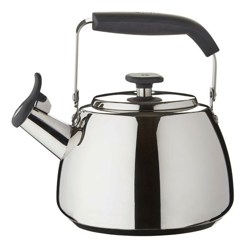 Paderno Polished Stainless Steel Stovetop Kettle, 1.9-L Product image