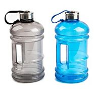 Manna Water Bottle with Attached Lid, Assorted, 2.2-L