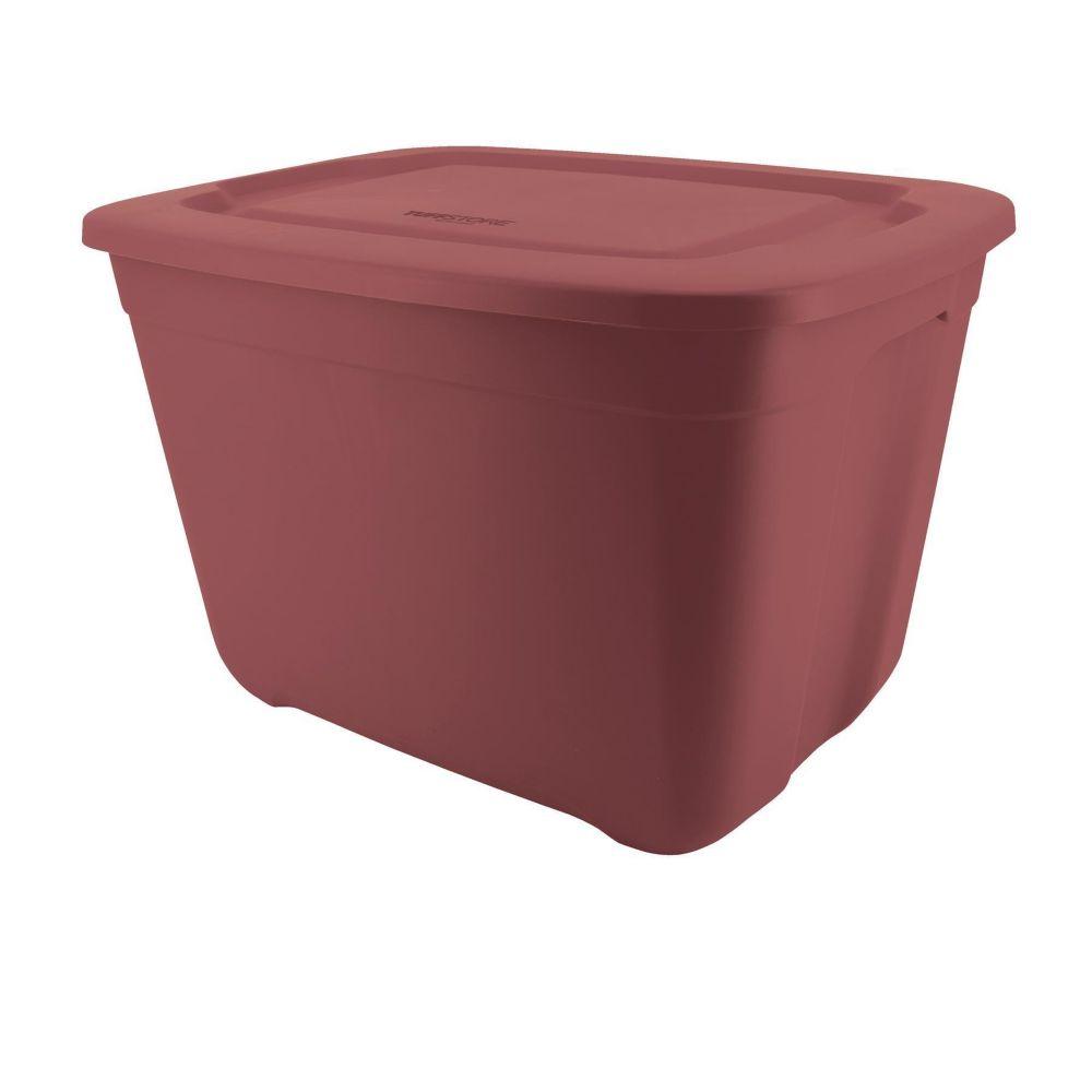 type A Restore Storage Bin, Deep Red, 68-L