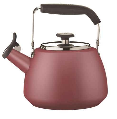PADERNO Maritime Red Stainless Steel Stovetop Kettle, 1.9-L