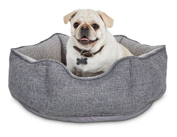 Petco Cozy Cottage Hexagon Nester Dog Bed, Grey, 22-in x 22-in x 7-in Product image