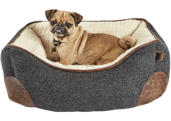 Petco Nester Memory Foam Dog Bed, Grey, 24-in x 18-in Product image