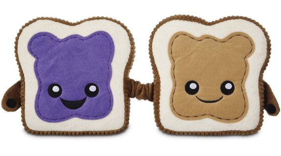 Petco Play Plush Peanut Butter & Jelly Dog Toy