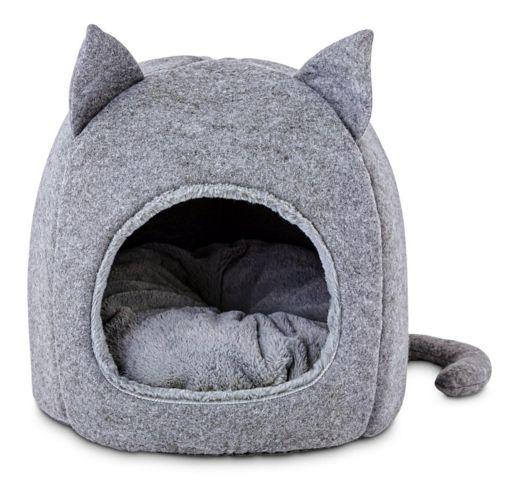 Lit iglou pour chat à capuchon Petco Feline, 15,5 po L x 15,5 po H