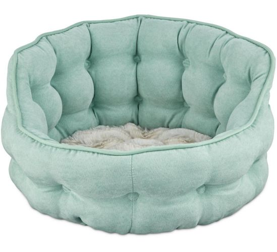 Petco Tufted Cat Bed, Seaglass, 18-in x 17-in Product image