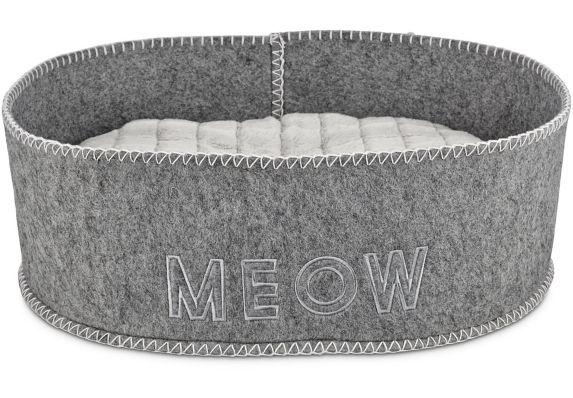 Petco Felt Cat Bed, Grey, 18-in x 15.5-in