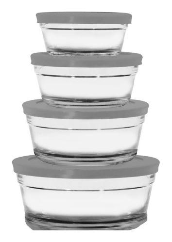 Contenants ronds en verre pour aliments MASTER Chef, paq. 8