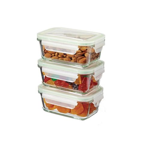 MASTER Chef Glass Clip Lid Food Storage, 485-mL, 3-pk Product image