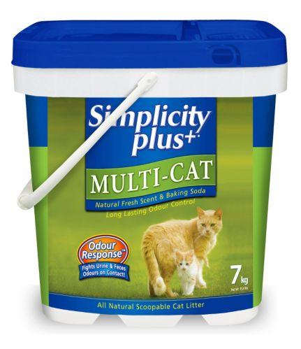 Simplicity Plus Multi-Cat Scoopable Cat Litter, 7 kg Product image