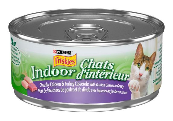 Purina Friskies Indoor Chunky Chicken Cat Food, 156-g Product image