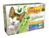 Nourriture pour chats d'intérieur Purina Friskies, saveurs variées, paq. 12   Friskiesnull