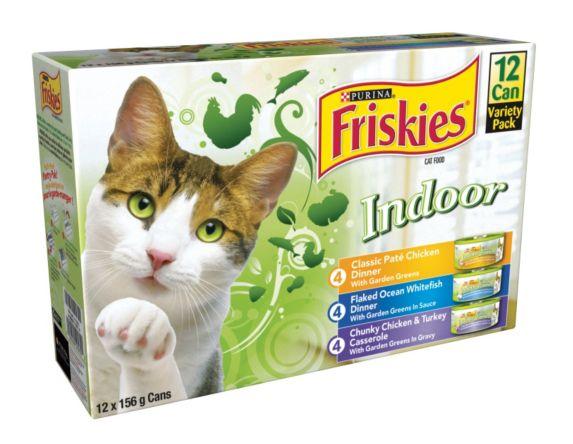 Nourriture pour chats d'intérieur Purina Friskies, saveurs variées, paq. 12