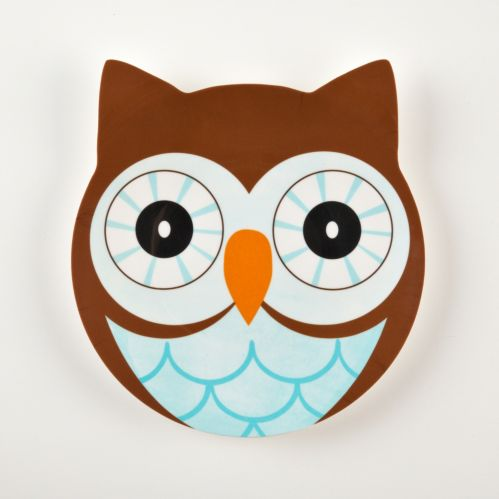Friendly Faces Owl Plate