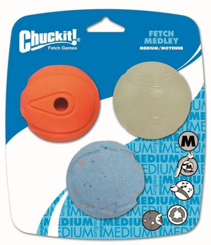 Medium Fetch Medley Ball Assortment, 3-pk