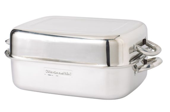 KitchenAid Stainless Steel Double Roaster, 18-in
